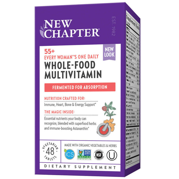 New Chapter Multi Every Woman One Daily 55+ 48ct-Supplements-The Scarlet Sage Herb Co.