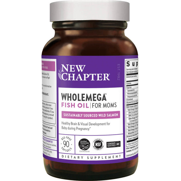 New Chapter Wholemega Moms 500mg 90ct-Supplements-The Scarlet Sage Herb Co.