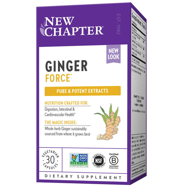 New Chapter Ginger Force 30ct-Supplements-The Scarlet Sage Herb Co.