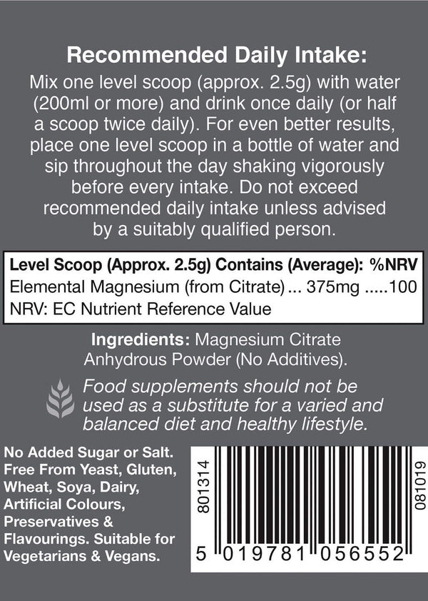 Health Aid Magnesium Citrate 7.05oz-Supplements-The Scarlet Sage Herb Co.