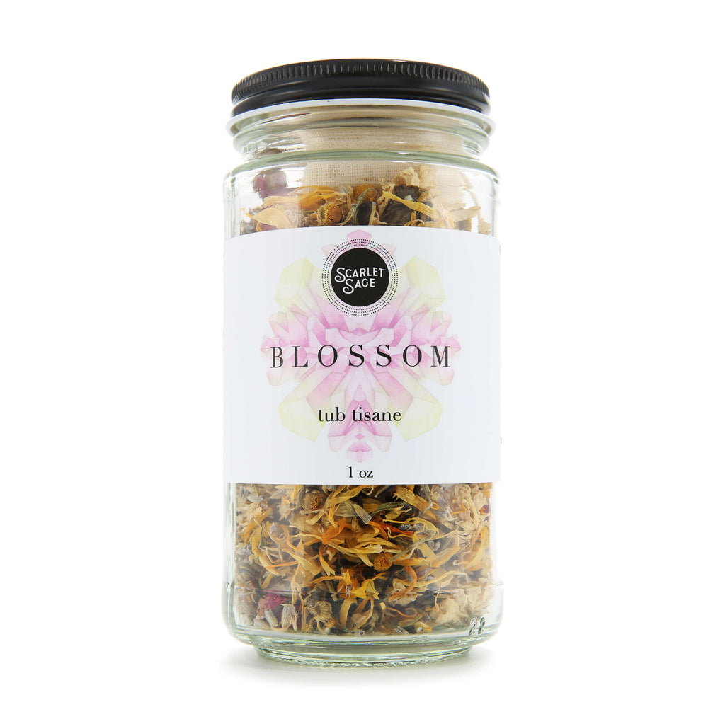 Blossom Tub Tisane 1oz - The Scarlet Sage Herb Co.