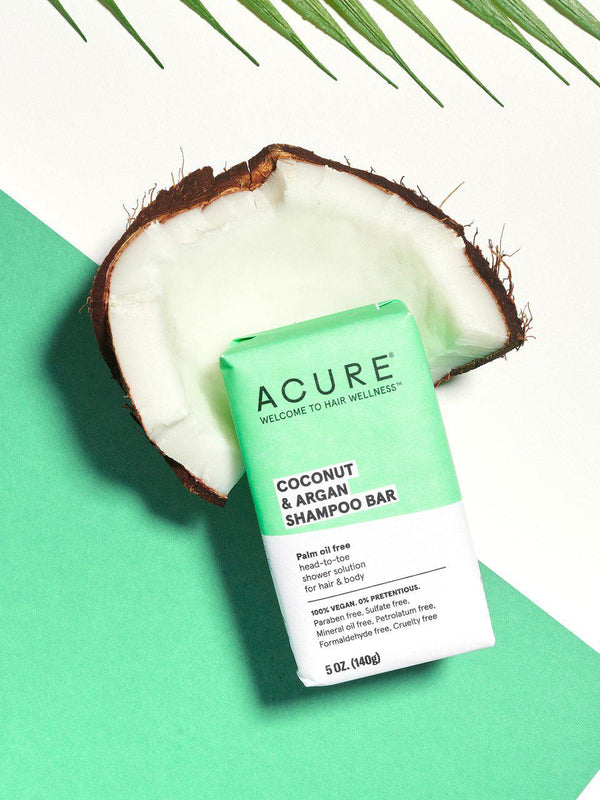 Acure Coconut & Argan Shampoo Bar-Bodycare-The Scarlet Sage Herb Co.