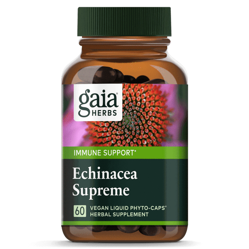 Gaia Herbs Echinacea Supreme 60ct-Supplements-The Scarlet Sage Herb Co.