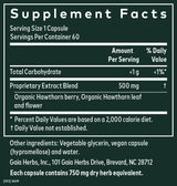 Gaia Herbs Hawthorn Supreme 60ct-Supplements-The Scarlet Sage Herb Co.