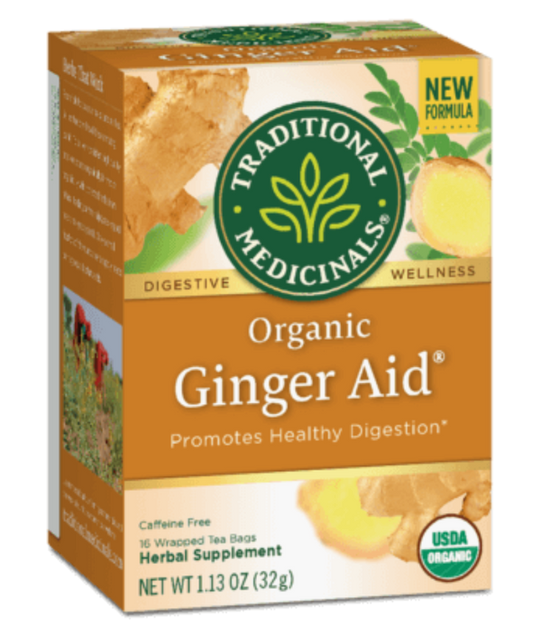 Traditional Medicinals Ginger Aid 16Ct-Teas-The Scarlet Sage Herb Co.