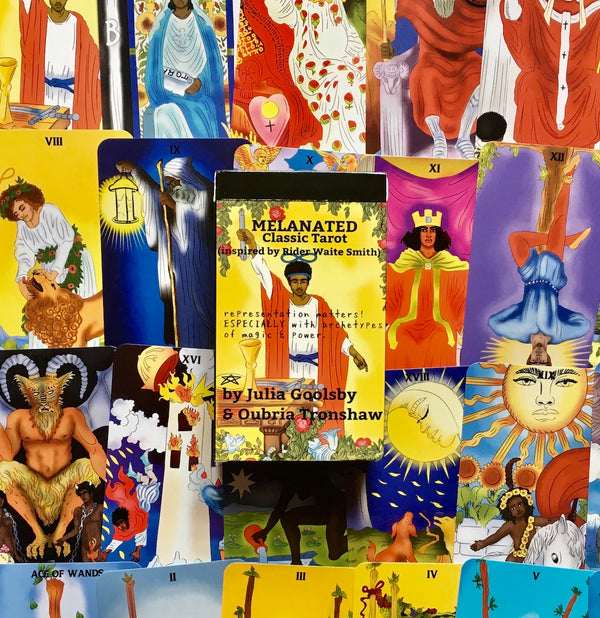 Melanated Classic Tarot by Oubria Tronshaw