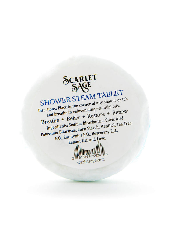 Shower Steam Tablet - The Scarlet Sage Herb Co.