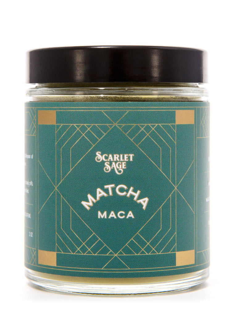 Matcha Maca Milk - The Scarlet Sage Herb Co.