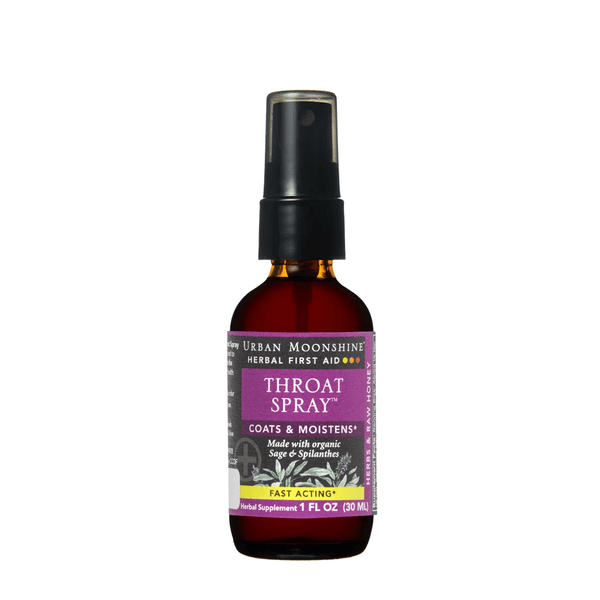 Urban Moonshine Throat Spray Herbal First Aid 1oz - The Scarlet Sage Herb Co.