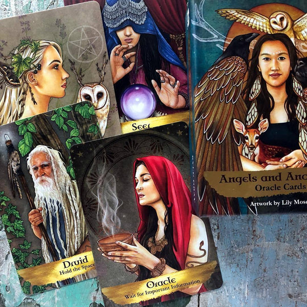 Angels And Ancestors Oracle Cards-The Scarlet Sage Herb Co.