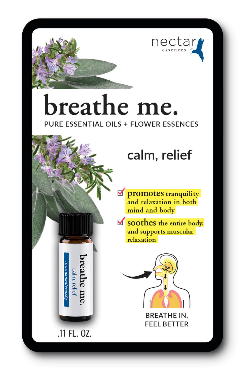 Nectar Essences Breathe Me Calm Relief .11floz. - The Scarlet Sage Herb Co.