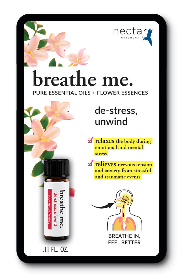Nectar Essences Breathe Me De-stress Unwind .11 fl oz. - The Scarlet Sage Herb Co.