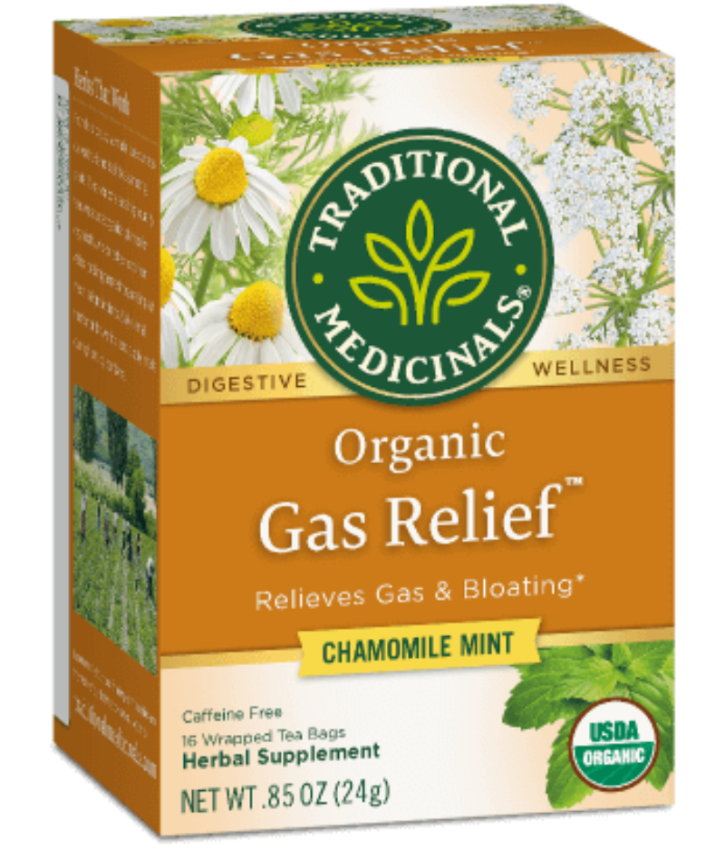 Traditional Medicinals Gas Relief 16ct-Teas-The Scarlet Sage Herb Co.