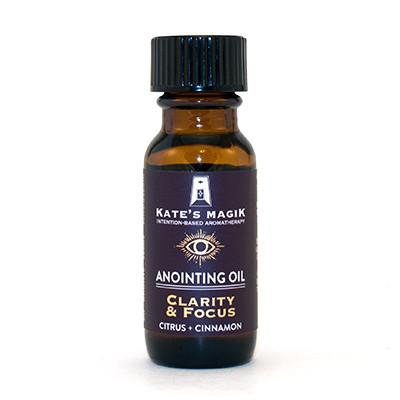 Kate's Magik Anointing Oil Clarity & Focus .5oz - The Scarlet Sage Herb Co.