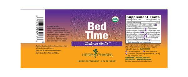 Herb Pharm Herbs on the Go: Bed Time 1oz-Tinctures-The Scarlet Sage Herb Co.