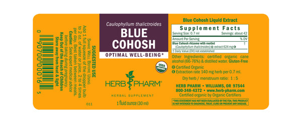 Herb Pharm Blue Cohosh 1oz-Tinctures-The Scarlet Sage Herb Co.