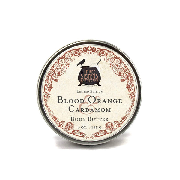 Three Sisters Apothecary Body Butter Blood Orange Cardamom 4oz - The Scarlet Sage Herb Co.