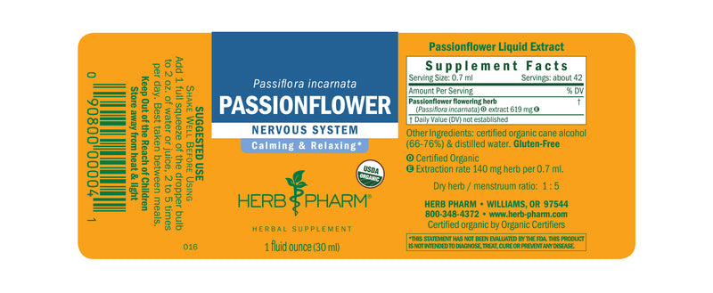 Herb Pharm Passionflower 1oz-Tinctures-The Scarlet Sage Herb Co.