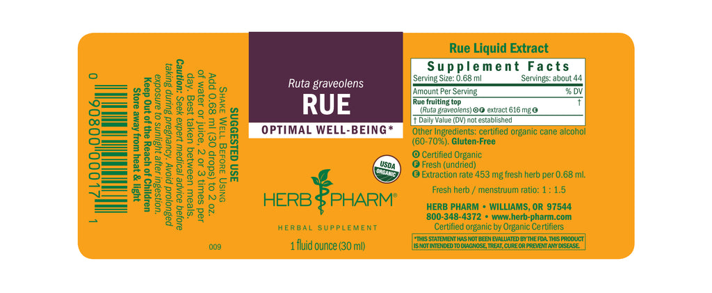 Herb Pharm Rue 1oz