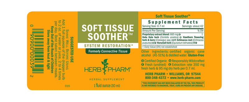 Herb Pharm Soft Tissue Soother 1oz-Tinctures-The Scarlet Sage Herb Co.