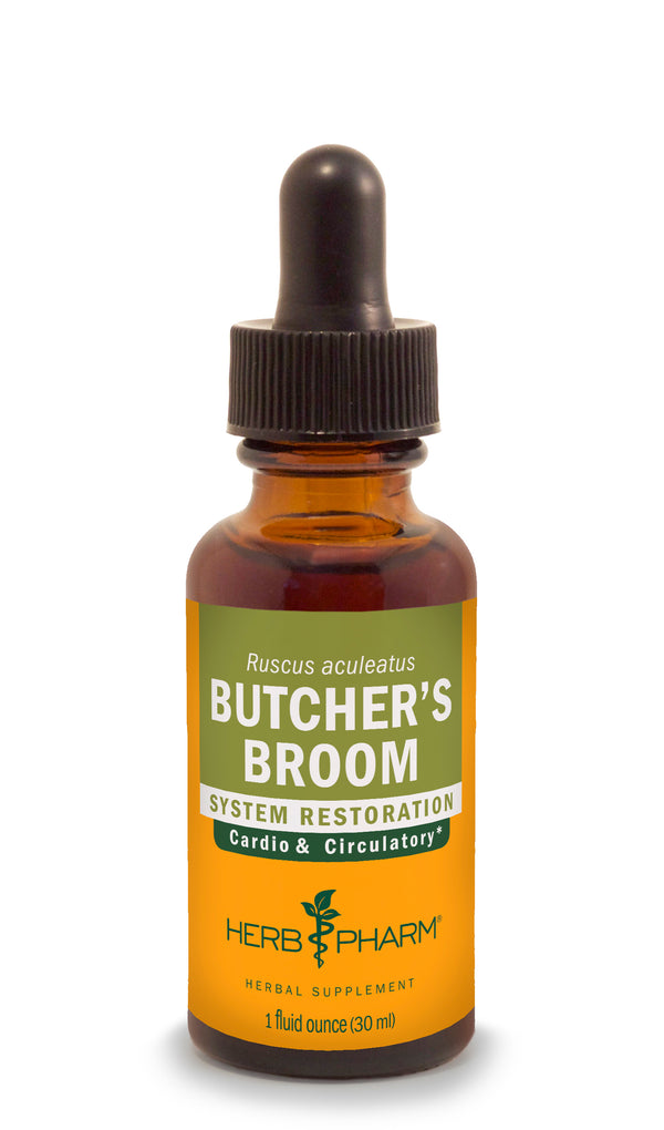 Herb Pharm Butchers Broom 1oz-Tinctures-The Scarlet Sage Herb Co.