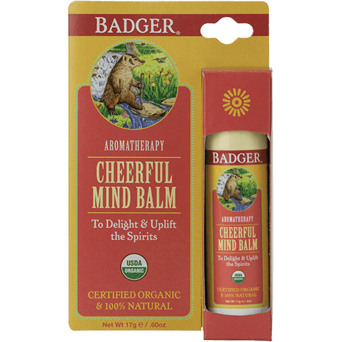 Badger Aromatherapy Cheerful Mind .60oz - The Scarlet Sage Herb Co.