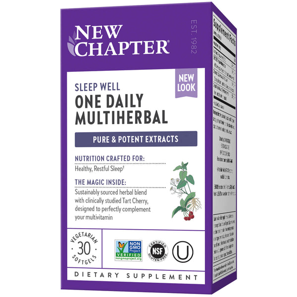 New Chapter One Daily Multiherbal Sleep Well 30ct-Supplements-The Scarlet Sage Herb Co.