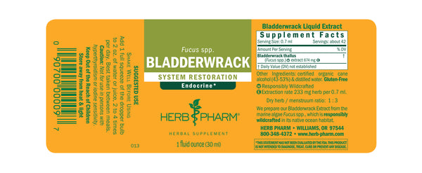 Herb Pharm Bladderwrack 1oz-Tinctures-The Scarlet Sage Herb Co.