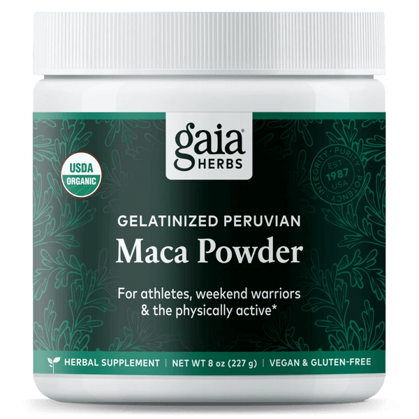 Gaia Herbs Maca Powder 8oz-Supplements-The Scarlet Sage Herb Co.