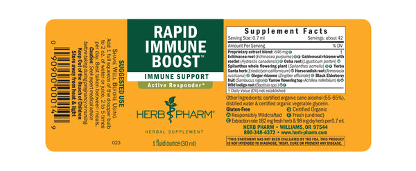 Herb Pharm Rapid Immune Boost 1oz-Tinctures-The Scarlet Sage Herb Co.