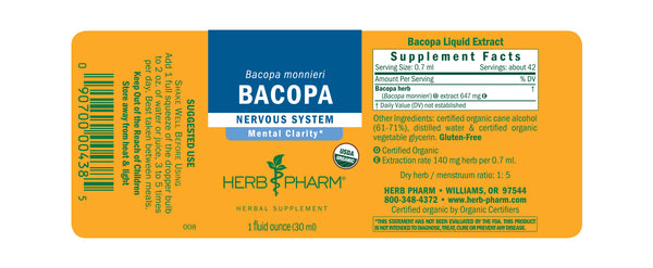 Herb Pharm Bacopa 1oz-Tinctures-The Scarlet Sage Herb Co.