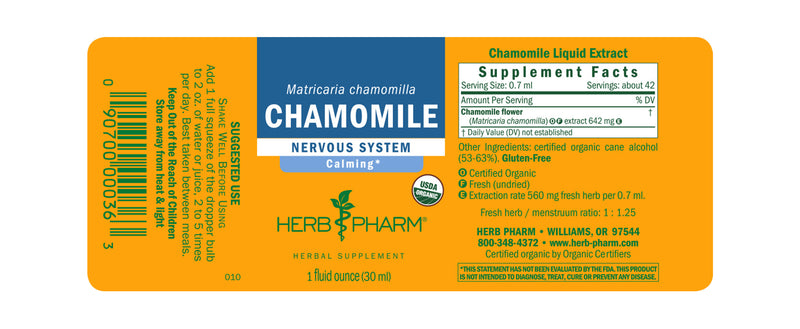 Herb Pharm Chamomile 1oz-Tinctures-The Scarlet Sage Herb Co.
