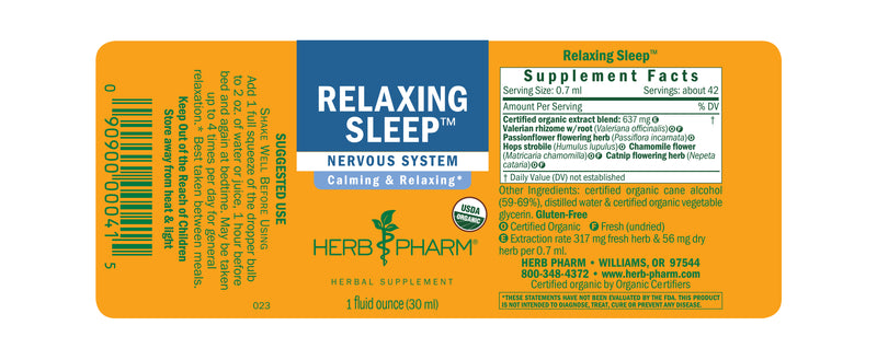 Herb Pharm Relaxing Sleep 1oz-Tinctures-The Scarlet Sage Herb Co.