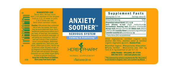 Herb Pharm Anxiety Soother 4oz