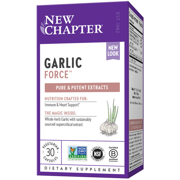 New Chapter Garlic Force 30ct-Supplements-The Scarlet Sage Herb Co.