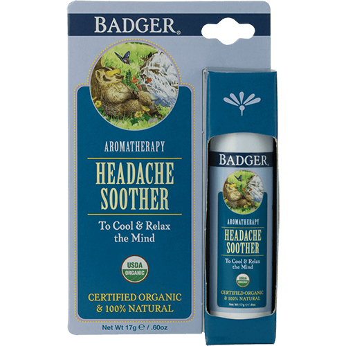 Badger Aromatherapy Headache Soother .60oz - The Scarlet Sage Herb Co.