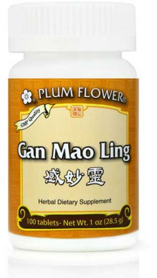 Plum Flower Gan Mao Ling 100 tabs-Supplements-The Scarlet Sage Herb Co.