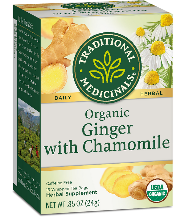 Traditional Medicinals Ginger Chamomile 16ct