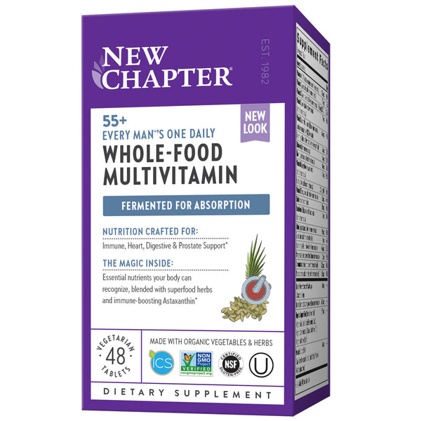 New Chapter Multi Every Man One Daily 55+ 48ct-Supplements-The Scarlet Sage Herb Co.