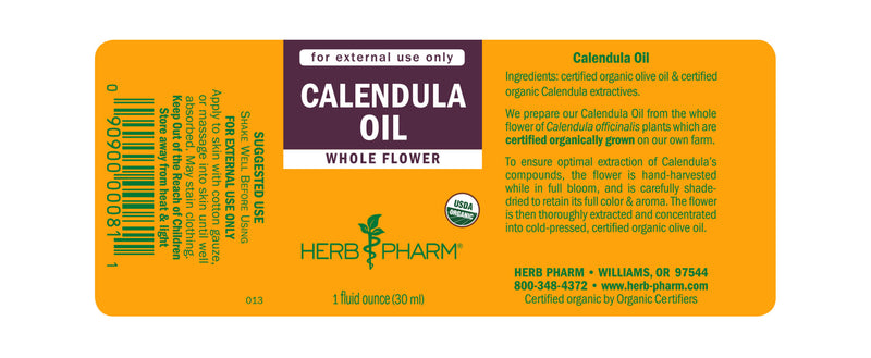 Herb Pharm Oil Calendula 1oz-Tinctures-The Scarlet Sage Herb Co.
