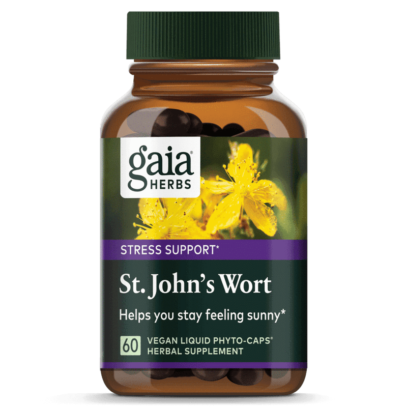 Gaia Herbs St Johns Wort 60ct-Supplements-The Scarlet Sage Herb Co.