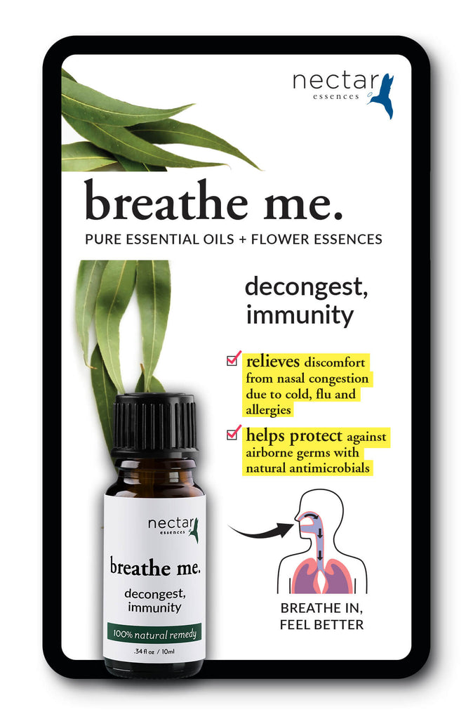 Nectar Essences Breathe Me Decongest Immunity - The Scarlet Sage Herb Co.