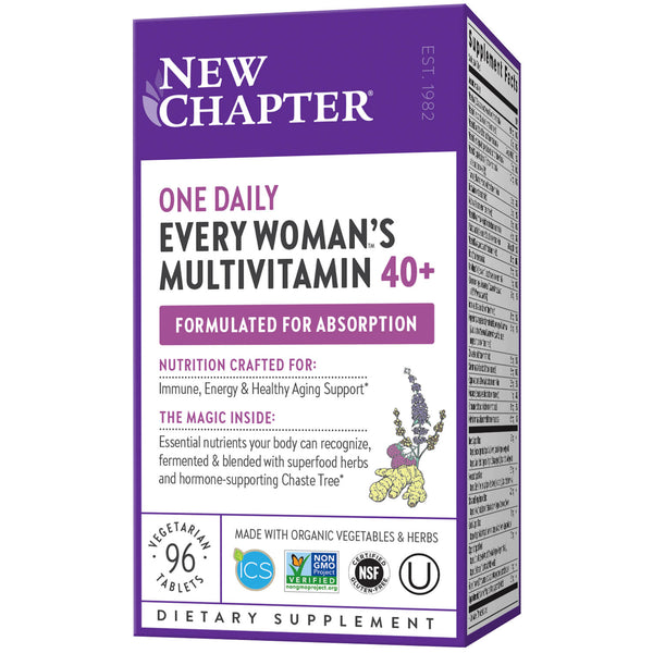 New Chapter Multi Every Woman One Daily 40+ 96ct-Supplements-The Scarlet Sage Herb Co.