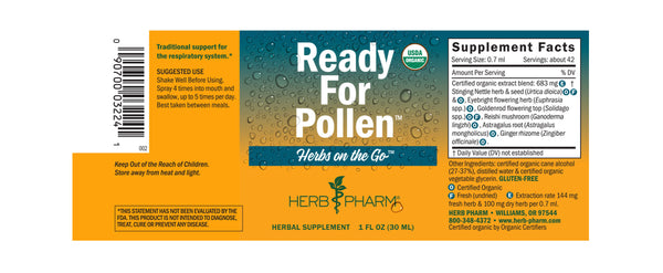 Herb Pharm Herbs on the Go: Ready For Pollen 1oz-Tinctures-The Scarlet Sage Herb Co.