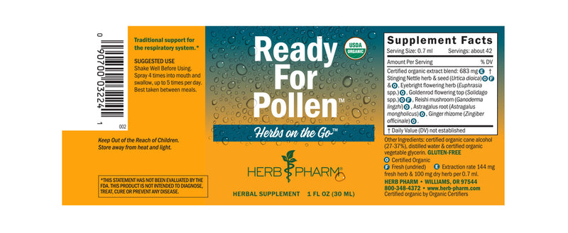 Herb Pharm Herbs on the Go: Ready For Pollen 1oz