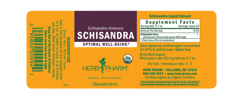 Herb Pharm Schisandra 1oz-Tinctures-The Scarlet Sage Herb Co.
