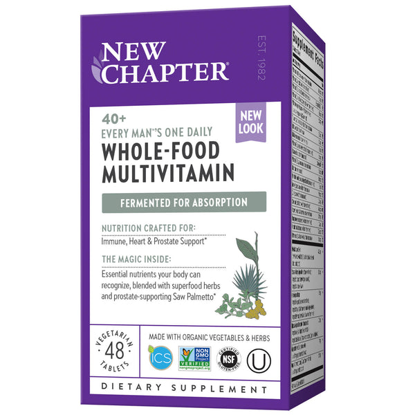 New Chapter Multi Every Man One Daily 40+ 48ct-Supplements-The Scarlet Sage Herb Co.
