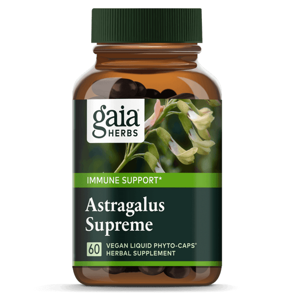 Gaia Herbs Astragalus Supreme 60ct-Supplements-The Scarlet Sage Herb Co.