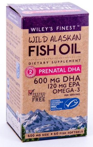 Wileys Finest Prenatal DHA 60ct-Supplements-The Scarlet Sage Herb Co.