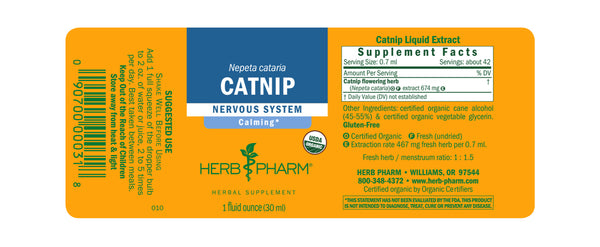 Herb Pharm Catnip 1oz-Tinctures-The Scarlet Sage Herb Co.
